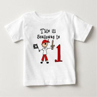 Stick Pirate 1st Birthday Baby T-Shirt