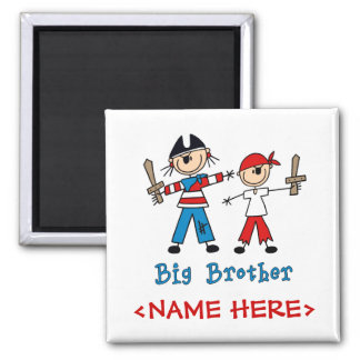 Stick Pirates Big Brother Square Magnet
