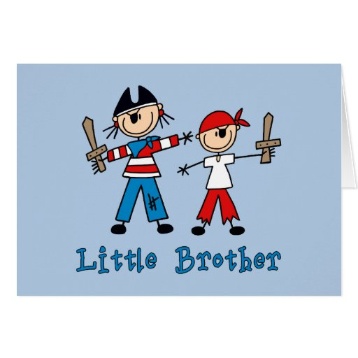 Stick Pirates Little Brother Note Card