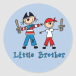 Stick Pirates Little Brother Round Sticker