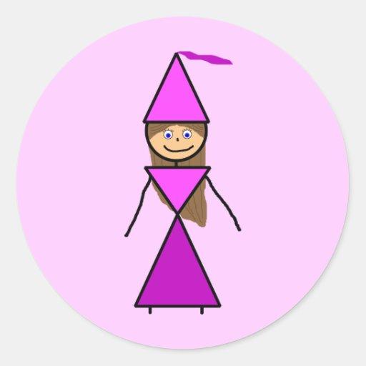 Stick Princess Brunette Sticker
