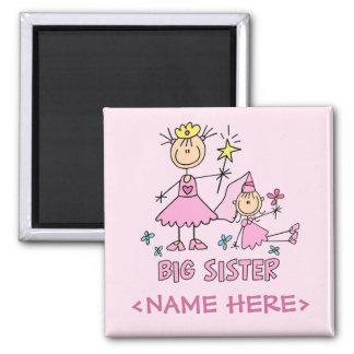 Stick Princess Duo Big Sister Square Magnet