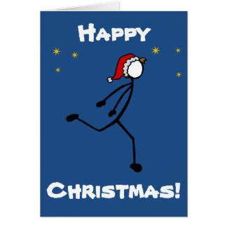 Stick-With-Sport Christmas Santa Sprinter Custom Card