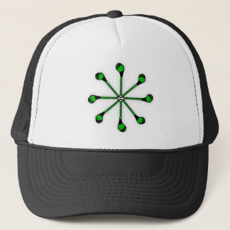 Stick With Sport Hurling 360 Logo Electric Green Trucker Hat