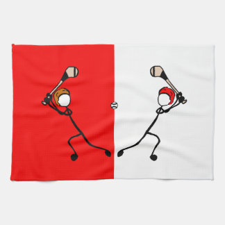 Stick With Sport Red and White Cork Hurling Towel