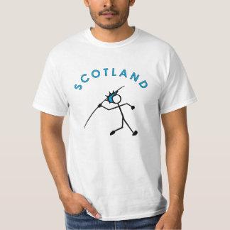 Stick With Sport Scotland Javelin Blue T-Shirt