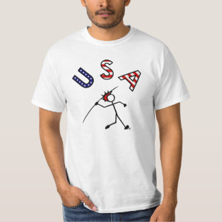 Stick With Sport USA Javelin Red Hair T-Shirt