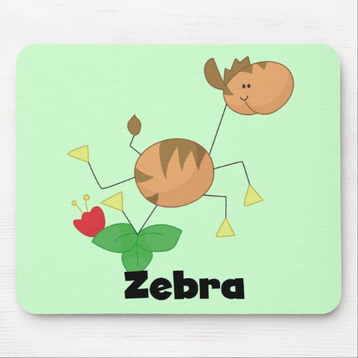 Stick Zebra Tshirts and Gifts Mousepad