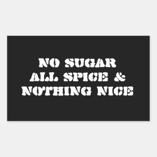 Sticker 4-Pack: No Sugar