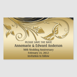 Sticker - 50th Wedding Anniversary Save The Date