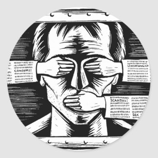 Sticker against any type of Censorship