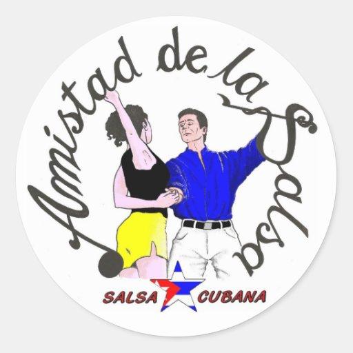 sticker Amistad Logo of the Salsa