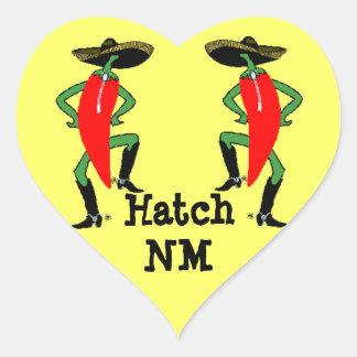Sticker Anthropomorphic Chili Pepper Men Hatch NM