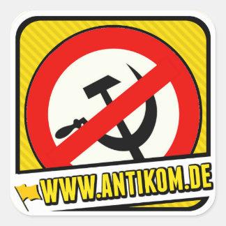 Sticker: Anti hammer and sickle Square Sticker