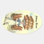 Sticker Antique Fun Bread Baker Chef Personalise