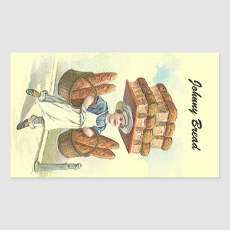 Sticker Antique Fun Bread Baker Chef Personalize