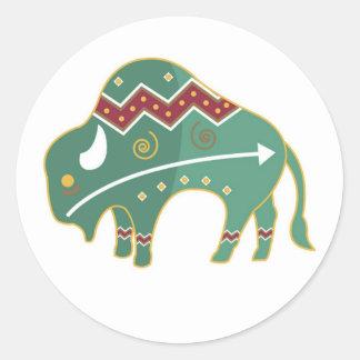 Sticker Buffalo Design Native American