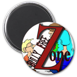 sticker-bully free zone-boyz magnet
