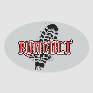 Sticker by RunCult for bumpers, laptops, computers Oval Sticker