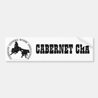 Sticker Cabernet CHA Blanc Bumper Sticker