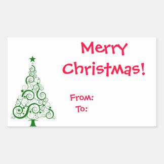 Sticker Christmas Tag