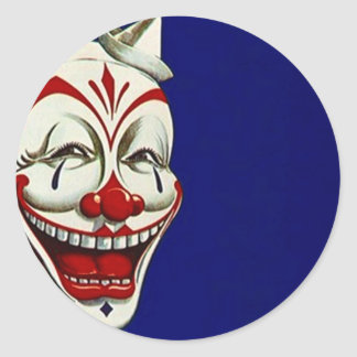 Sticker Clown Painted Face Fun Happy Expression Pa