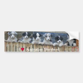 "Sticker conveys ""Australian Shepherd """