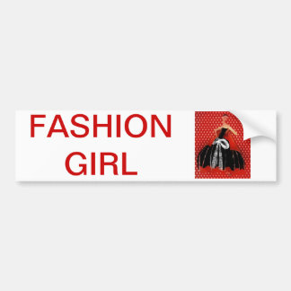 sticker conveys FASHION GIRL Bumper Sticker