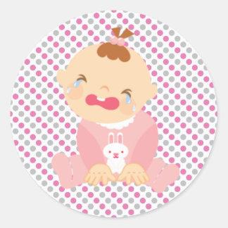 Sticker/Crying Baby Round Sticker
