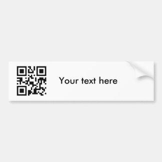Sticker (custom text) bumper sticker
