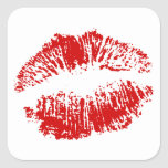 Sticker Envelope Seals Sealed With Kiss Lips Red L