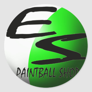 sticker ES paintball green