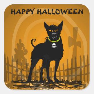 Sticker - Evil Scary Halloween Dog