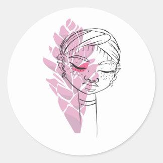 """Sticker Fanm Fle """" Alpinia"""""""