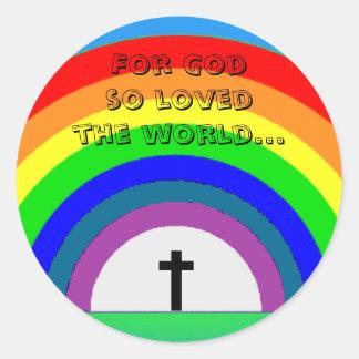 Sticker For God so loved the world