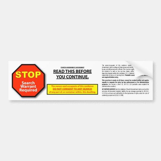 Sticker for safes & homes bumper sticker