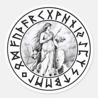 sticker Freya Rune Shield