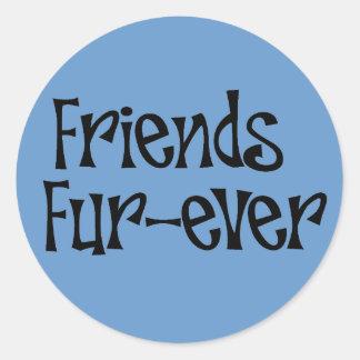 "Sticker ""Friends fur more ever """
