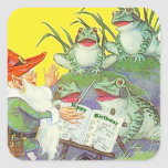 Sticker Frogs Singing Elf Directs Birthday Song