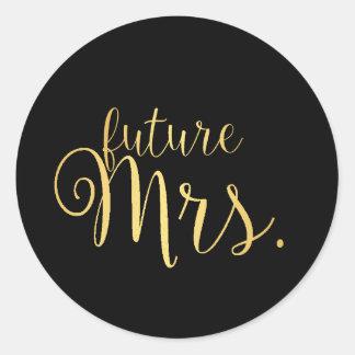 Sticker - future Mrs. golden Black
