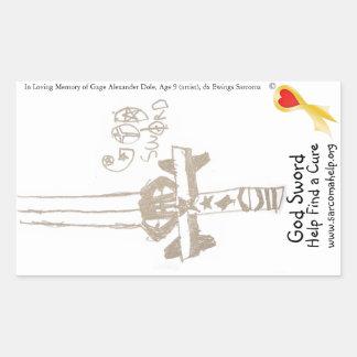 Sticker, Gage's God Sword Rectangular Sticker