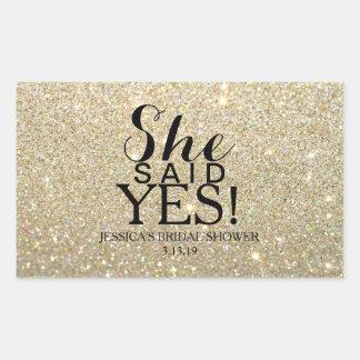 Sticker | Glitter Bridal Shower - She Said Yes!