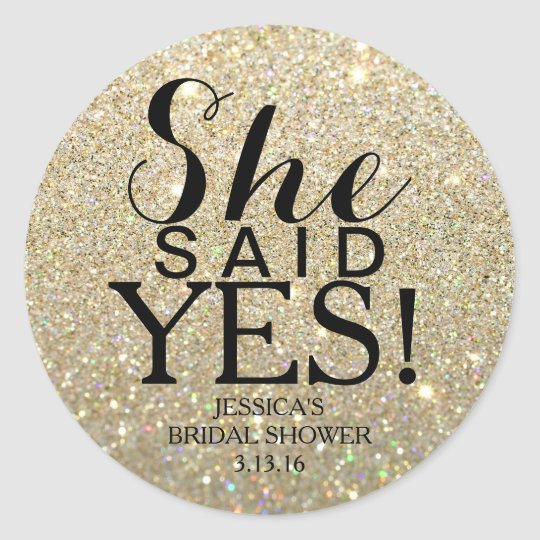 Sticker | Glitter Bridal Shower - She Said