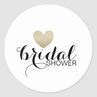 Sticker - Glitter Heart Fab Bridal Shower