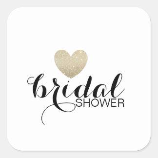 Sticker - Glitter Heart Fab Bridal Shower