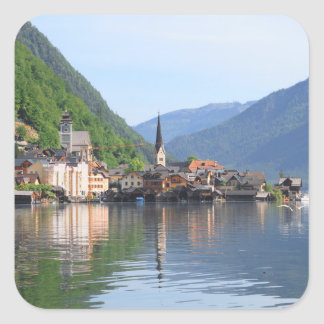Sticker - Hallstatt town lake, Austria