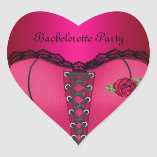 Sticker Heart Bachelorette Party Pink Peach Corset Stickers