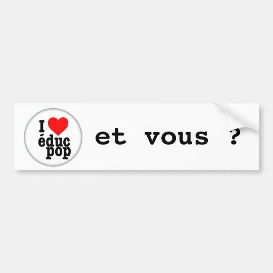 Sticker I coils pop educ/for car