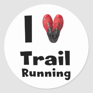 "Sticker ""I love Trail Running """