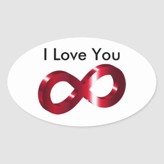 Sticker- I Love you - Infinity Oval Sticker